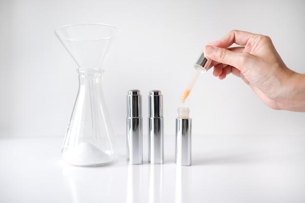Cosmetisch laboratorium onderzoek en ontwikkeling.