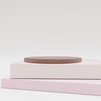 Cosmetische achtergrond voor productpresentatie. hout en boek voor mode-magazine illustratie.