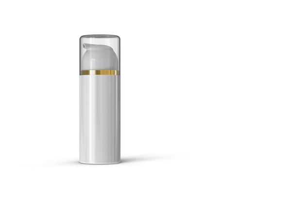 Cosmetische fles pakket 3d-rendering geïsoleerd