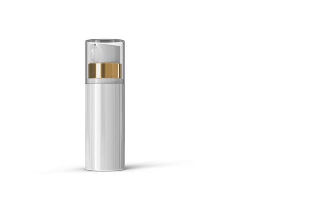 Cosmetische fles pakket 3d-rendering geïsoleerd Premium Foto
