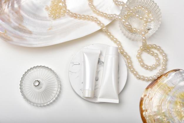 Cosmetische flescontainers met extractie-extract van mariene parels