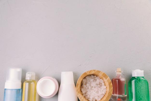 Cosmetische flessen voor bovenaanzicht