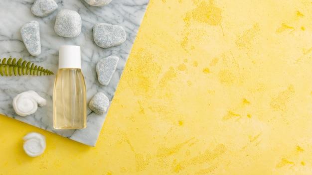 Cosmetische natuurlijke producten met kopie-ruimte