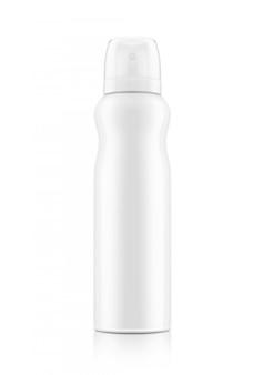 Cosmetische spuitfles van wit aluminium