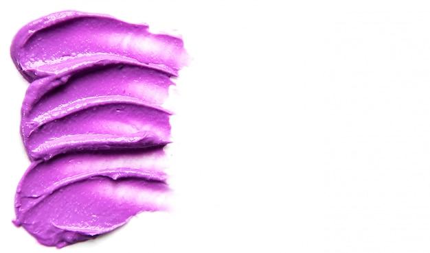 Cosmetische textuur voor gezicht en lichaam. spa selectieve aandacht.