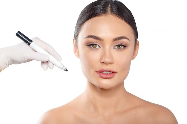 Cosmetologie plastische chirurgie schoonheid concept