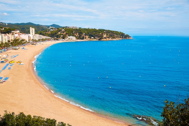Costa brava-strand lloret de mar catalonia spain