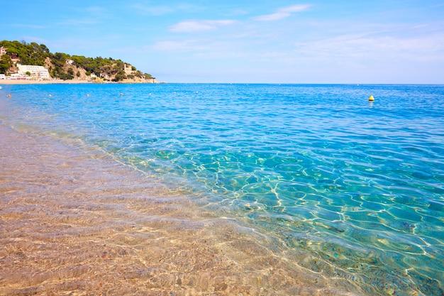 Costa brava strand lloret de mar in catalonië