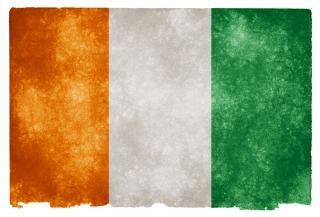 Cote d ivoire grunge vlag