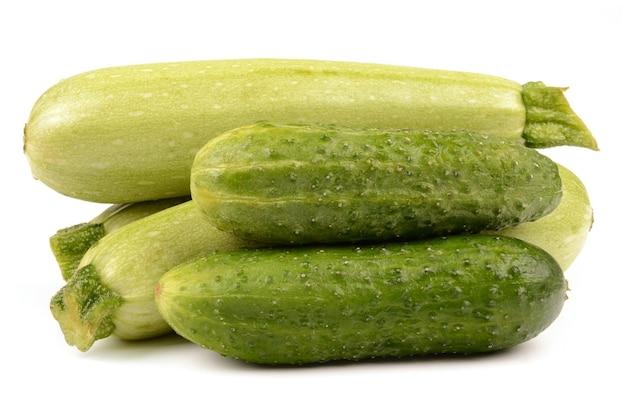 Courgette en komkommers
