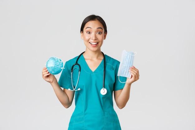 Covid-19, coronavirus, concept van gezondheidswerkers.