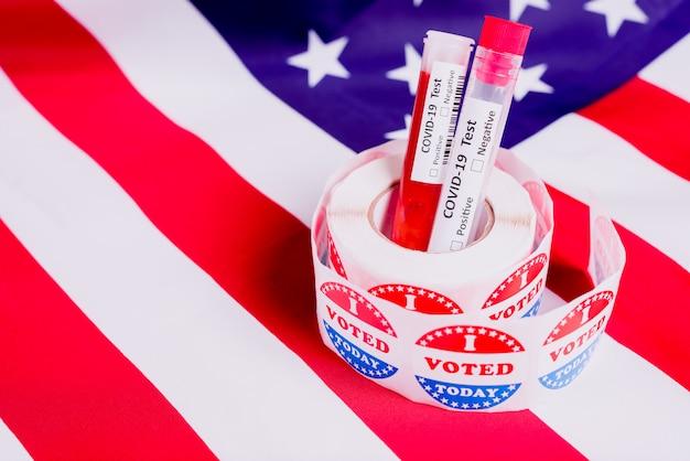 Covid-19-tests op zieke mensen beïnvloeden de amerikaanse politiek tijdens de verkiezingen van november 2020 in de verenigde staten.