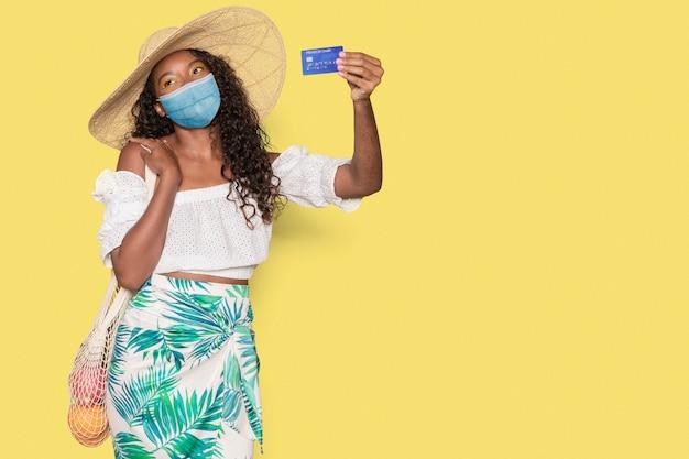 Covid 19 winkelen met maskers is de nieuwe norm