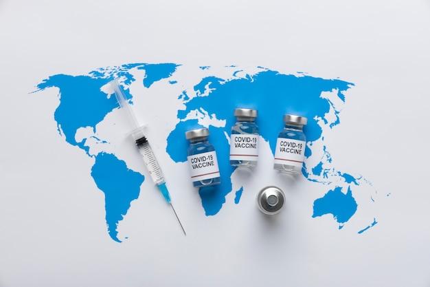 Covid stilleven met vaccin