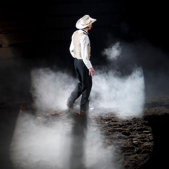 Cowboy bij dixie-stampede in branson, missouri