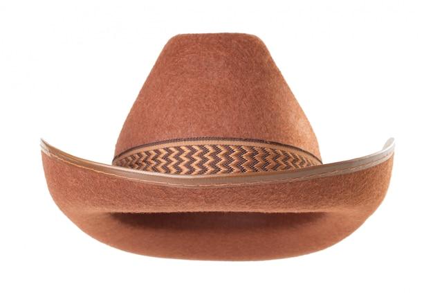 Cowboyhoed op witte achtergrond