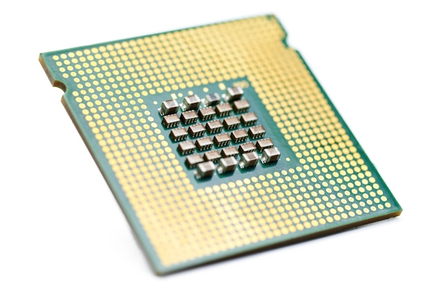 Cpu, centrale processoreenheid, geïsoleerd