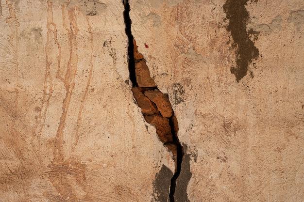 Crack oude bakstenen muur beton textuur achtergrond