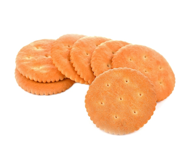 Cracker cookies geïsoleerd op wit