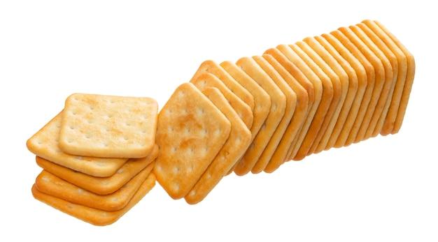 Cracker stapel geïsoleerd
