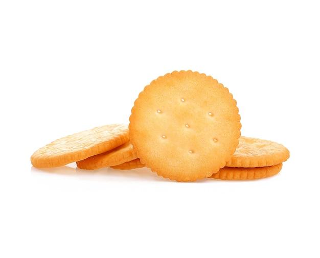 Crackers op wit oppervlak