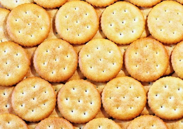 Crackersachtergrond. kan als achtergrond worden gebruikt