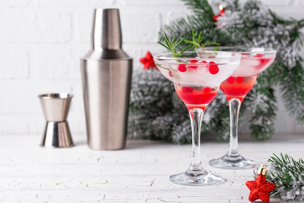 Cranberry margarita-cocktail. kerst drankje