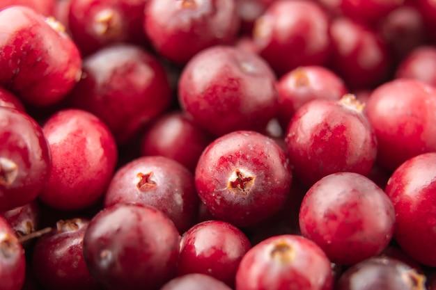 Cranberry textuur. versheid cranberry achtergrond. cranberry sap. cranberry hele frame. de set vitamines in veenbessen