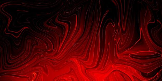 Creatief abstract gemengd koraalkleurig schilderij met panorama met marmereffect