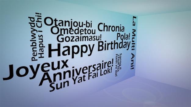 Creatief beeld van internationaal gelukkig verjaardagsconcept