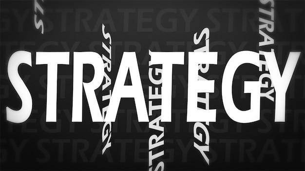 Creatief beeld van strategieconcept