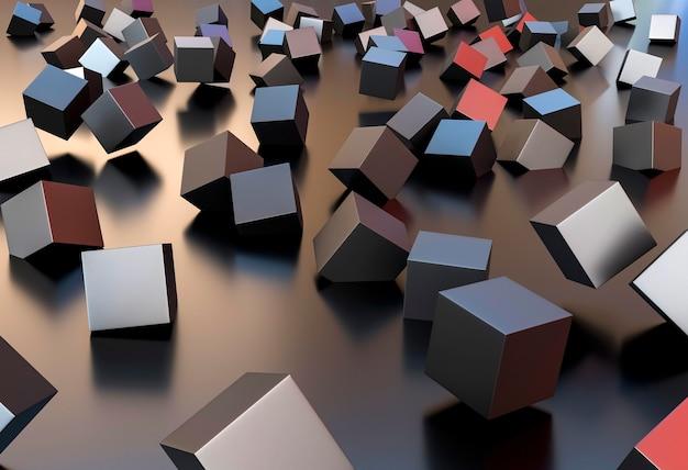 Creatief behang met verschillende kubussen