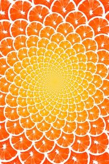 Creatieve achtergrond gemaakt van citrusvruchten