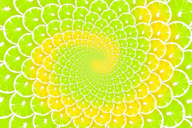 Creatieve achtergrond gemaakt van limoen en citroenen