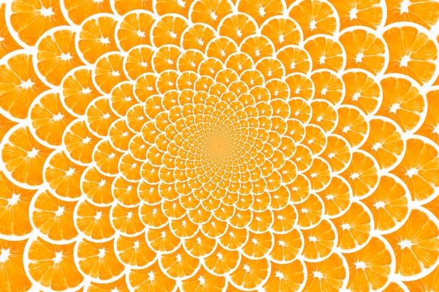 Creatieve achtergrond gemaakt van sinaasappelen