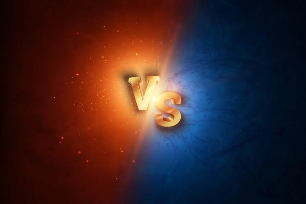 Creatieve achtergrond, goud versus logo, letters voor sport en worstelen