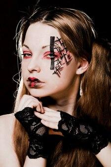 Creatieve gotische make-up