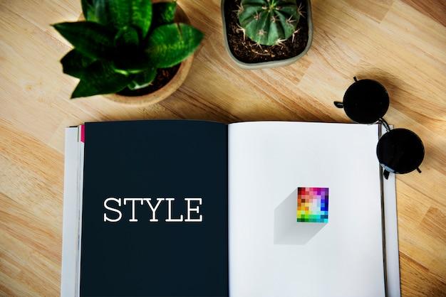 Creatieve ideeën merklogo-stijl