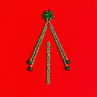 Creatieve kerstboom, geometrisch ontwerp minimaal vieringsconcept
