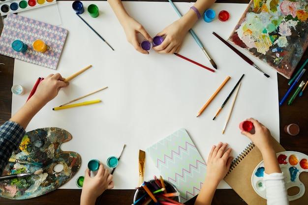 Creatieve kinderen achtergrond