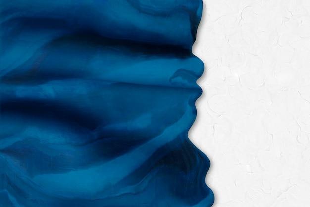 Creatieve klei getextureerde achtergrond in blauwe rand diy tie dye kunst abstracte stijl
