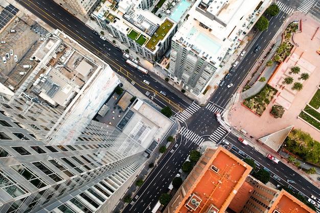 Creatieve luchtfoto van stadsgezicht