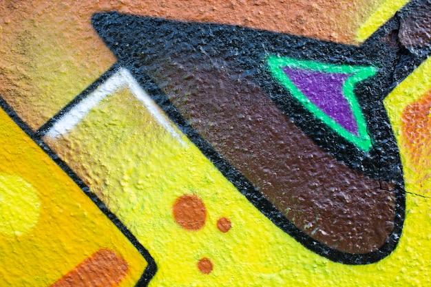 Creatieve muurschildering graffiti achtergrond