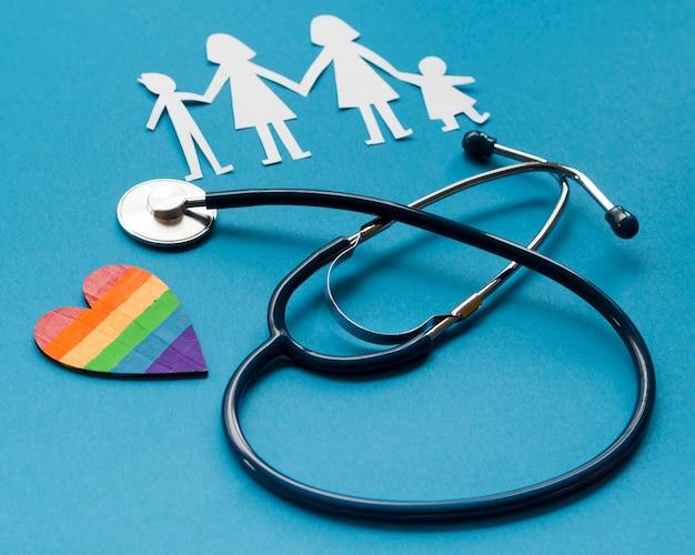 Creatieve regeling voor lgbt-familieconcept