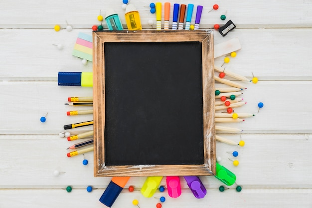 Creatieve schooldecoratie met leisteen