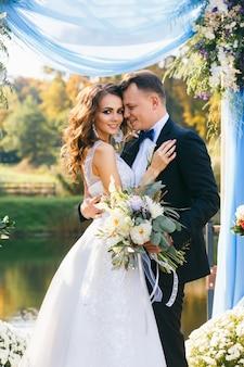 Creatieve stijlvolle huwelijksceremonie