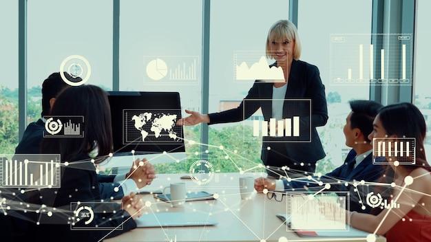 Creatieve visualisatie van technologie voor het analyseren van bedrijfsgegevens