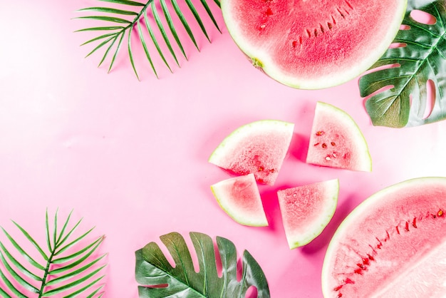 Creatieve watermeloen lay-out