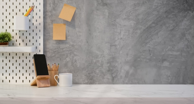 Creatieve werkplek met kopie ruimte