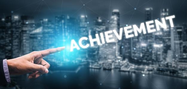 Creatieve zakenmensen prestatie en bedrijfsdoel succes concept.